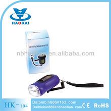 solar dynamo rechargeable 3led flashlight/dynamo flashlight