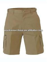 Men's Khaki Cargo Six Pockets Short pants
