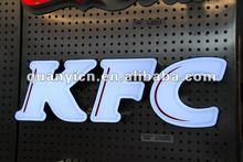 Precision acrylic 3D KFC LED word signage