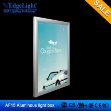 Edgelight AF aluminous frame Double sides hanging signage 15 Led Advertisement Light Box