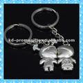 dkmk0398 moda design lindo menino e menina beijando casal chaveiro de metal chave tag