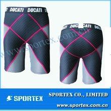 2014 OEM 80%nylon 20% lycra men's compression core shorts with elastic logo waistband