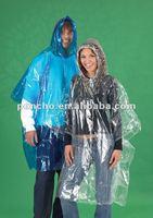 PE disposable rain poncho biodegradable rain poncho