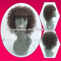 Wholesale cheap brown synthetic wig for black women