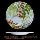 unique wavy heated melamine dinner plate