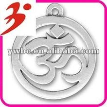 alaşım kaplama gümüş işareti kazımak om yoga takı toptan