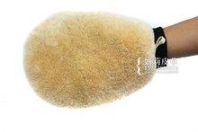 100% sheep skin fur car wash mitt