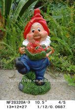 Resin garden gnome figuras de las artes