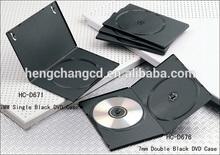 DVD Case Single Double 7mm black case for DVD CD