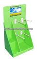 De cartón pantalla del contador superior, encimera de cartón cajas de presentación, encimera de cartón soporte de exhibición con ganchos