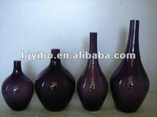Antique black glass vase