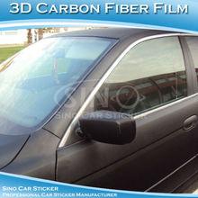SINO CAR STICKER Free Shipping 3D Car Vinyl Film Carbon Fiber Roll Paper