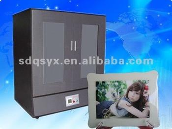 Korea crystal album cover making machine,ab glue frame oven