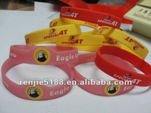 The hot sale personalized printed silicone bracelet for promotional gift