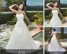 Beautiful Escrow Applique Plus Size White Wedding Dress