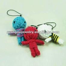 fashion souvenir knitted doll wool crochet keychain toys