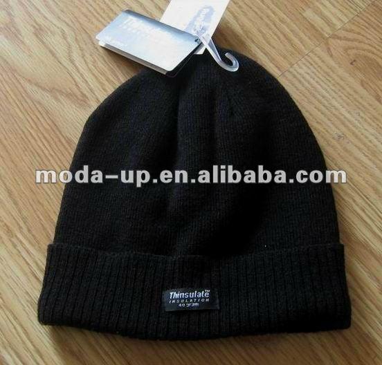Мужские трикотажные зимняя шапка thinsulate шляпа-Зимние шапки-ID ...