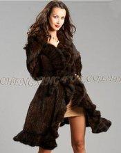 Cx-g-a-142b arruffato maglia pelliccia di visone con collo largo