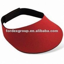 Customized design neoprene sports visor with hook and loop adjustment