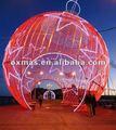 Decoración externa de bolas de navidad con luces LED