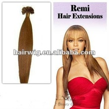 2013 new products Fusion/stick/glue/keratin remy human Hair Extension, Human Hair Extensions