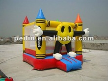 2012 hot sale inflatable yellow face bouncer