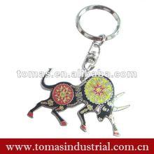 Animal 3d metal keychain bullfight toy
