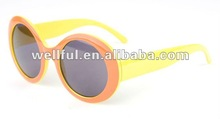 hot sold plastic fashion cute plastic kids sunglasses with UV and CE