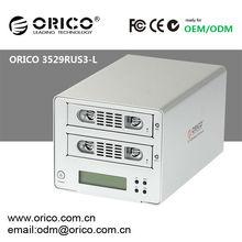 2 Bay RAID ENCLOSURE ORICO 3529RUS3-L 2bay 3.5 inch HDD RAID enclosure SATA USB 3.0 hard disk case