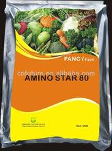 water soluble organic fertilizer 80% amino acid powder