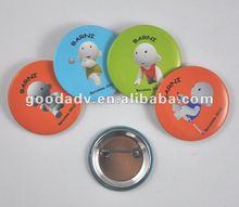 children plastic tin button badge