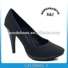 fashion ladies shoes black decent dress shoes