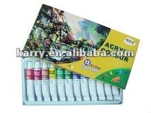 6c 60ml l tube acrylic paint,non-toxic