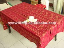 high quality christmas design polyester Jacquard table cloth