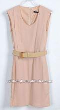 ladies sleeveless chiffon dress casual design dress 2013