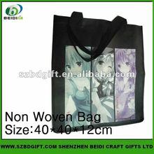 cute design foldable reusable non woven shopping bag