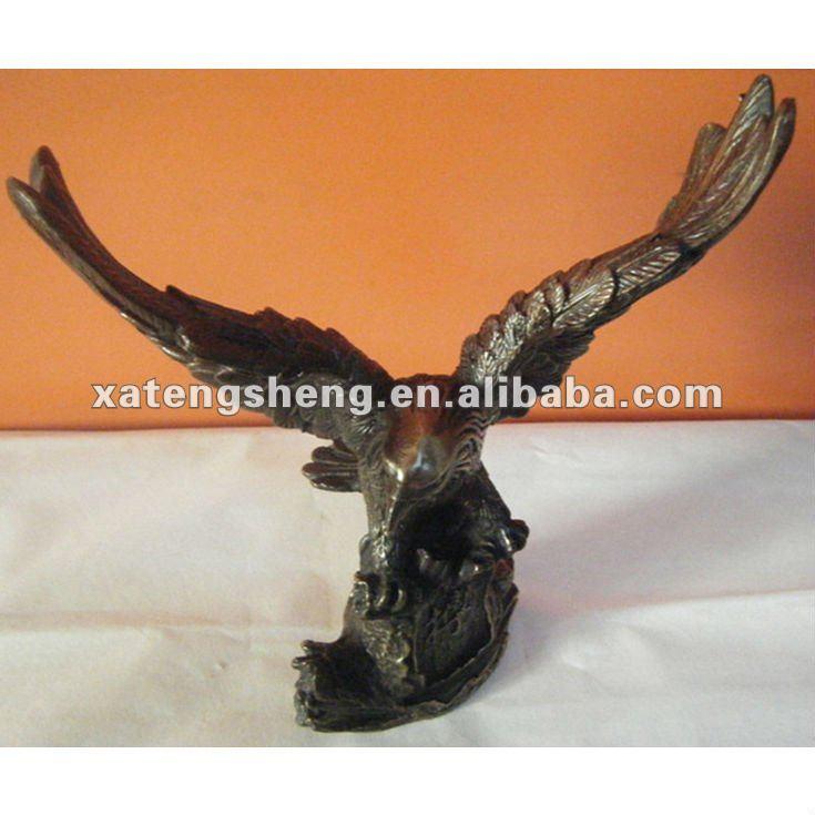 Metal Eagle Sculptures