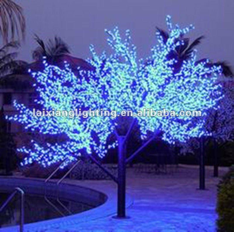 2012 azul led de la ramita de la rbol de luces de navidad for Arbol de navidad led