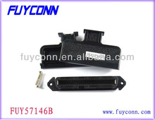 TYCO 2.16mm Centerline Champ 180 Degree RJ21 50 Pin Receptacle IDC connector with plastic cover