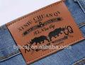 Las etiquetas en relieve/el logotipo de etiquetas de cuero/parches de cuero para los pantalones vaqueros