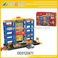 Hot vender lotes de estacionamento com 3 peças de carro, brinquedo estacionamentos oc0123471