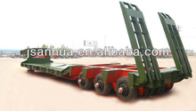 Strong Quality 80 Tons Lowbed Trailers In Truck Semi Trailers Or Semi-trailer trucks With Double Axles In One Line