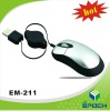 3D Optical mini Mouse with Retractable Cable