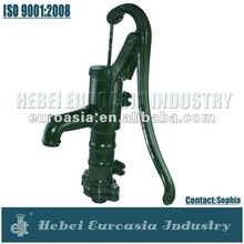 Belgium Type Cast Iron Water Hand Pump for Garden Decoration