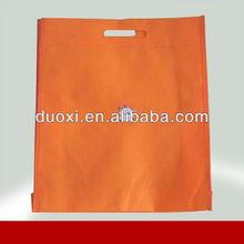 Orange promotional die cut bag