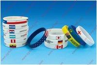 OEM 2012 olympics silicon wristband