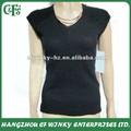 Moda novo design barato em branco womens knit top