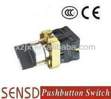 3-position stay put selector pushbutton switch