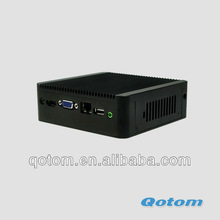 Qotom-Q100 lowest price thin client,mini pc market in shenzhen,small volume,high performance micro mini p