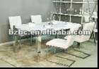 white lacquer dining room furniture UDT358